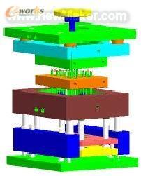 基于UG的标准导电视注塑模具v标准_光柱绘制数矿图图幅创新产品图片