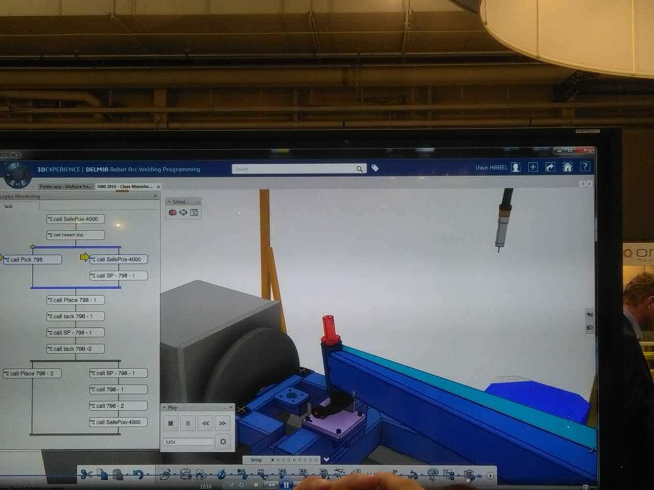 离线机器人编程可以通过达索3d体验平台进行直观