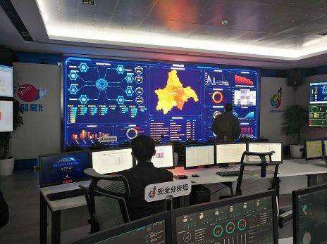 图2 中车铺镇数字化工厂生产运营监控室